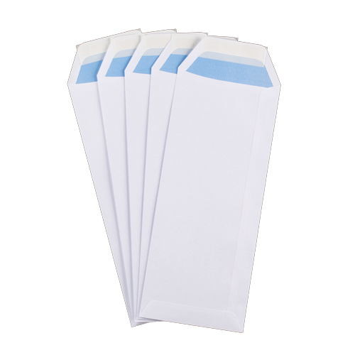 305 x 127 mm White Peel & Seal Pocket Envelope 100 gsm