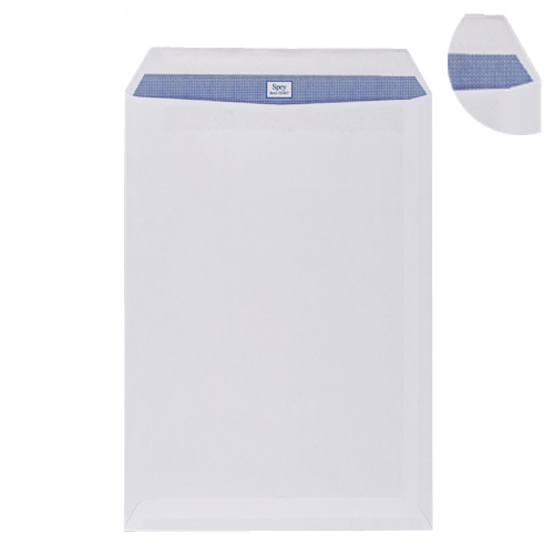 C4 WHITE SELF SEAL POCKET WINDOW ENVELOPES 100GSM