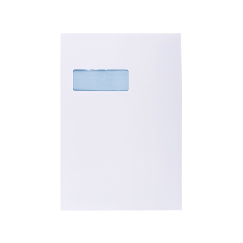 C4 WHITE GUSSET POCKET PEEL & SEAL WINDOW ENVELOPES