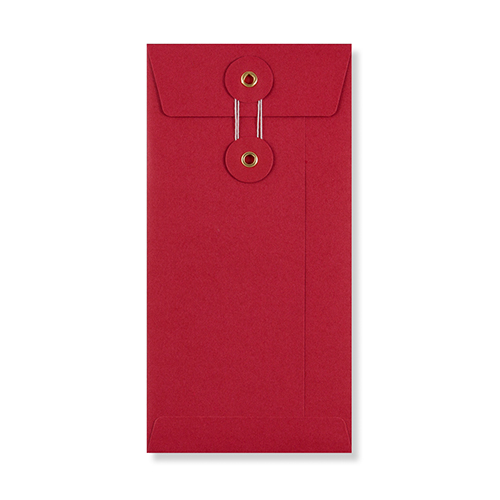DL RED POCKET 180GSM STRING & WASHER ENVELOPES