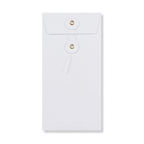 DL WHITE POCKET 180GSM STRING & WASHER ENVELOPES