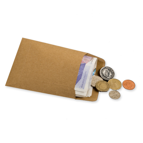 MANILLA WAGE POCKET ENVELOPES 108 x 102mm (Unprinted)
