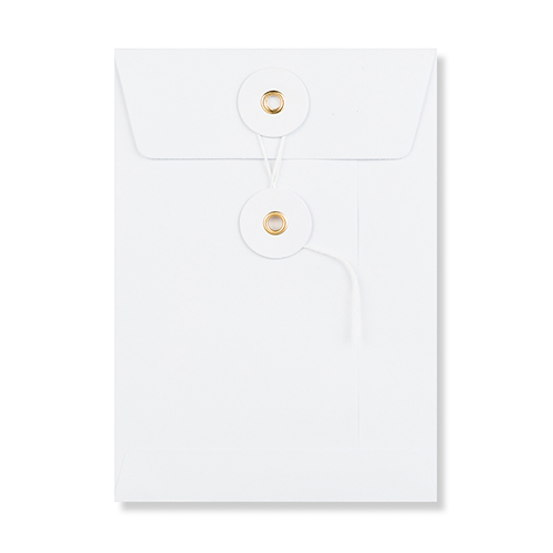 C6 WHITE STRING & WASHER ENVELOPES 180GSM