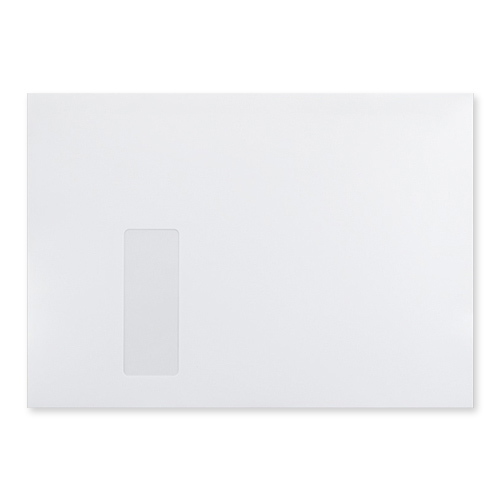 C4 ULTRA WHITE 120GSM WALLET PEEL AND SEAL WINDOW ENVELOPES