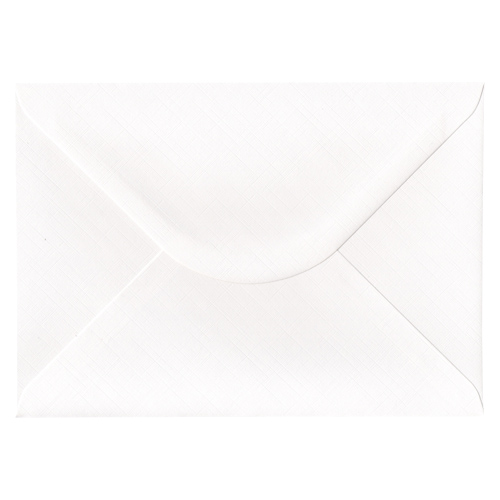 C5 DIAMOND WHITE 135GSM FINE LINEN EFFECT ENVELOPES