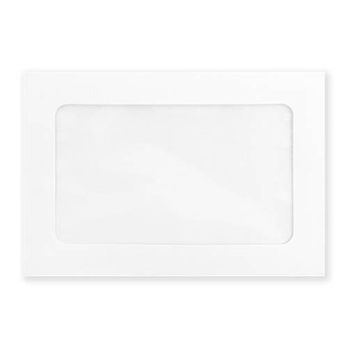 C5 WHITE FULL VIEW WINDOW ENVELOPES 160GSM (PACK OF 10)