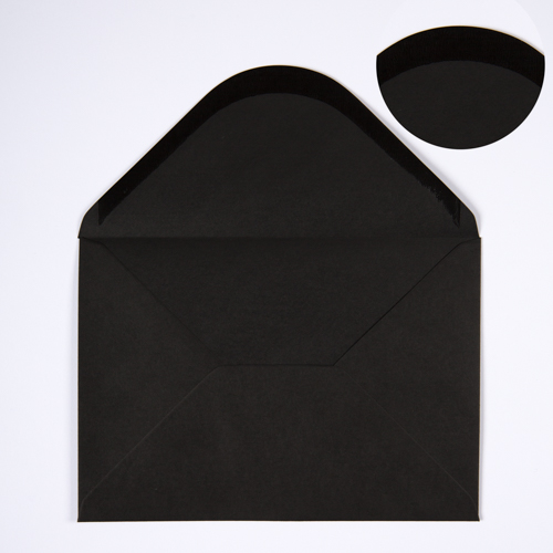 C5 BLACK ENVELOPES