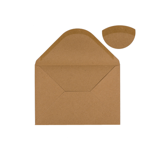 C5 KRAFT PRINTED WEDDING RINGS INVITATION ENVELOPES (PACK OF 10)