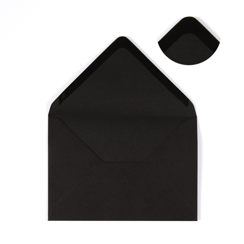 BLACK 133 x 184 mm ENVELOPES (i8)