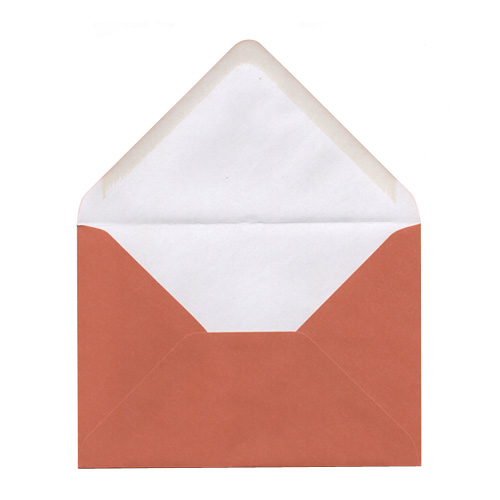 C6 BURNT ORANGE ENVELOPES