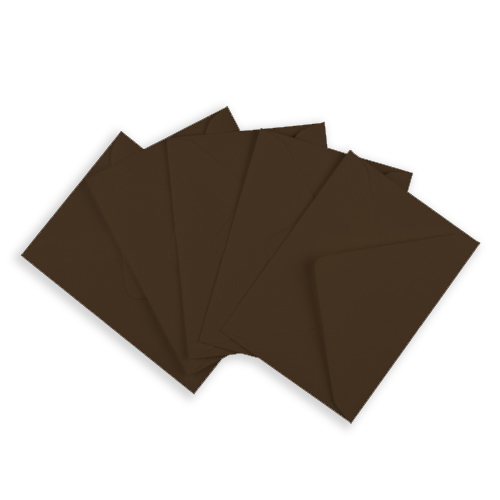 CHOCOLATE BROWN 133 x 184 mm ENVELOPES (i8)