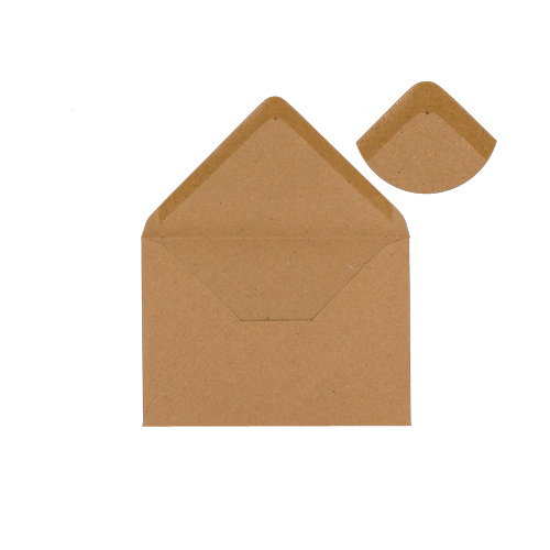 C6 KRAFT PRINTED WEDDING RINGS INVITATION ENVELOPES (PACK OF 10)