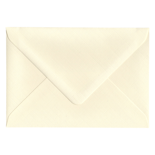 C6 IVORY 135GSM FINE LINEN EFFECT ENVELOPES