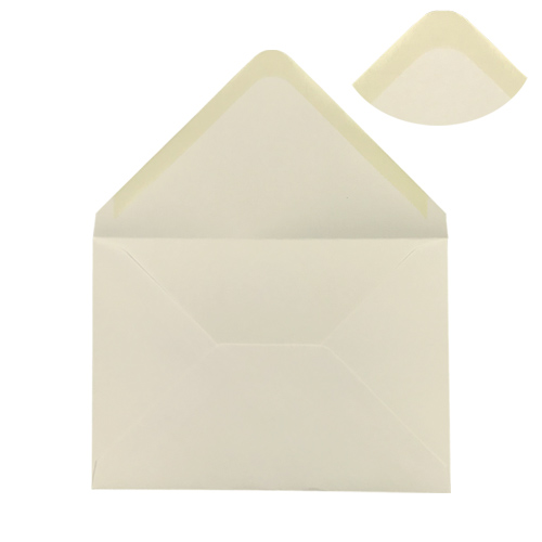 IVORY 133 x 184 mm ENVELOPES 100gsm (i8)