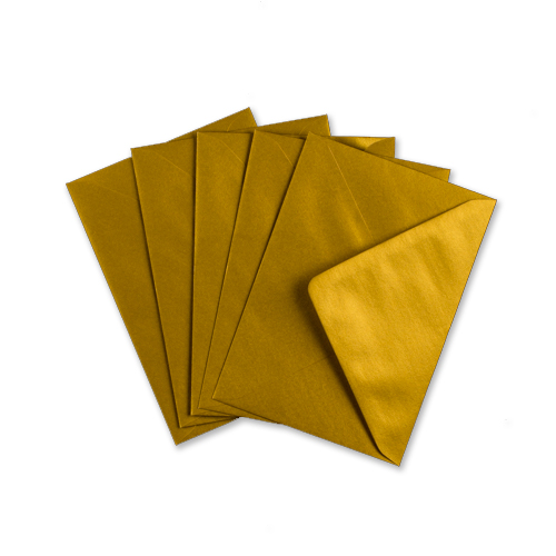 METALLIC GOLD 70 x 100 mm GIFT TAG ENVELOPE (i2) (NEW SHADE)