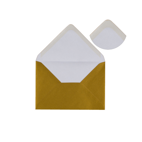 C7 Metallic Gold RSVP Envelopes