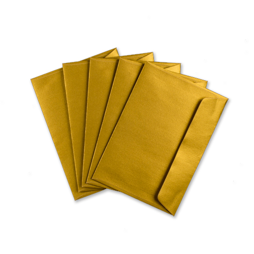 C6 Metallic Gold Envelopes