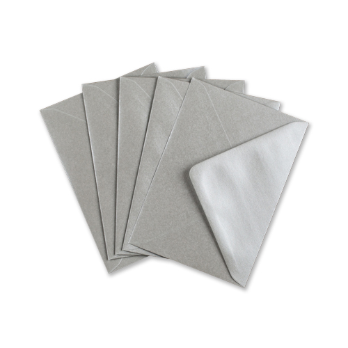 METALLIC SILVER 133 x 184mm ENVELOPES (i8)