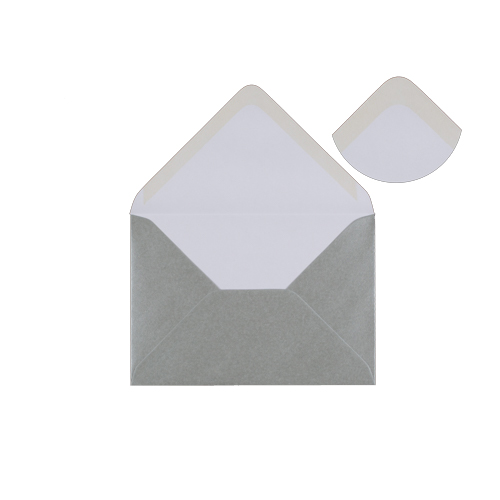 METALLIC SILVER 125 x 175 mm ENVELOPES (i6)