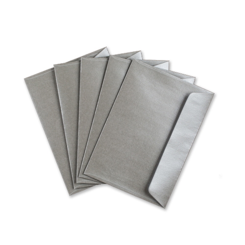 C6 METALLIC SILVER PEEL AND SEAL ENVELOPES