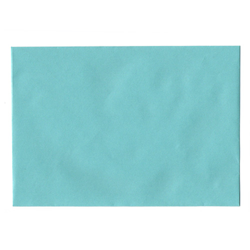 C6 PEARLESCENT TURQUOISE ENVELOPES