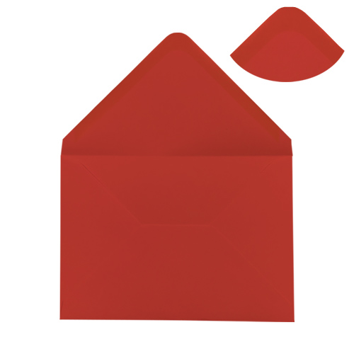 C6 Poppy Red Envelopes