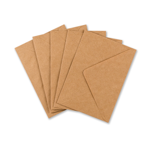 RIBBED KRAFT 133 x 184 mm ENVELOPES (i8)
