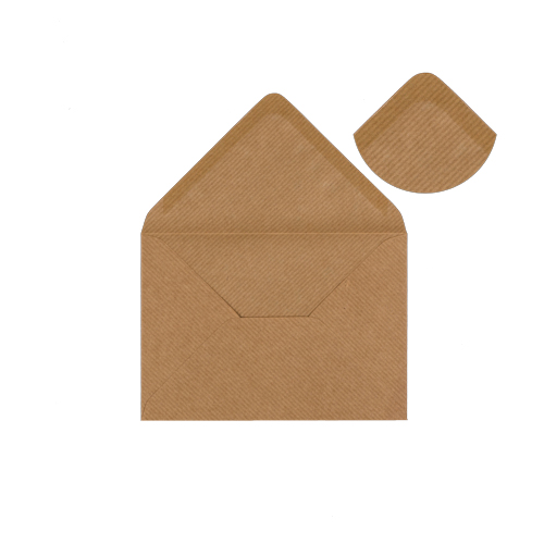 RIBBED KRAFT 70 x 100 mm GIFT TAG ENVELOPE (i2)