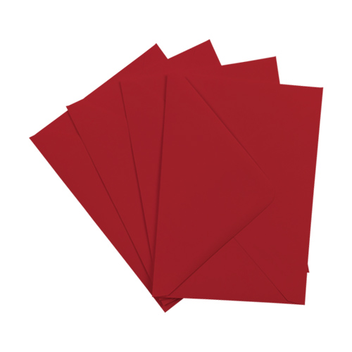 SCARLET RED 133 x 184 mm ENVELOPES (i8)