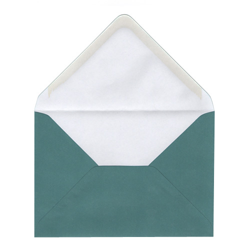 C6 TEAL ENVELOPES