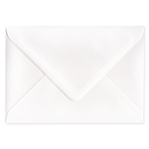 C6 DIAMOND WHITE 135GSM FINE LINEN EFFECT ENVELOPES