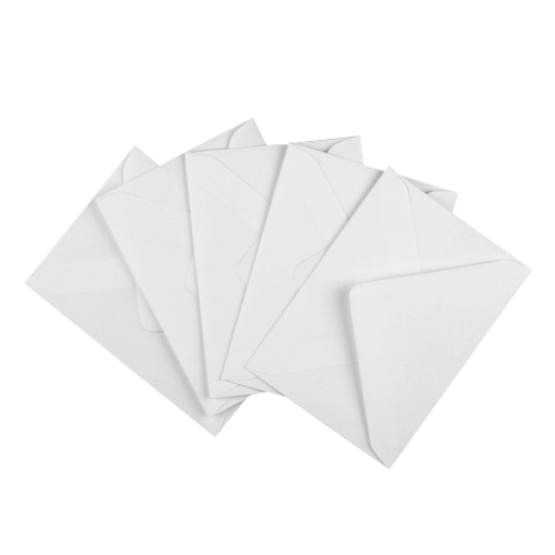 WHITE 133 x 184 mm ENVELOPES 100gsm (i8)