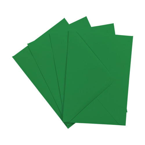 XMAS GREEN 133 x 184 mm ENVELOPES (i8)