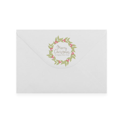 Merry Christmas 2 Printed Envelopes