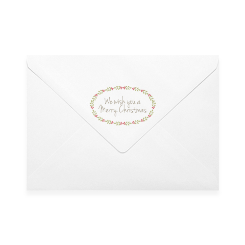 MERRY CHRISTMAS 1 PRINTED ENVELOPES (FLAP)