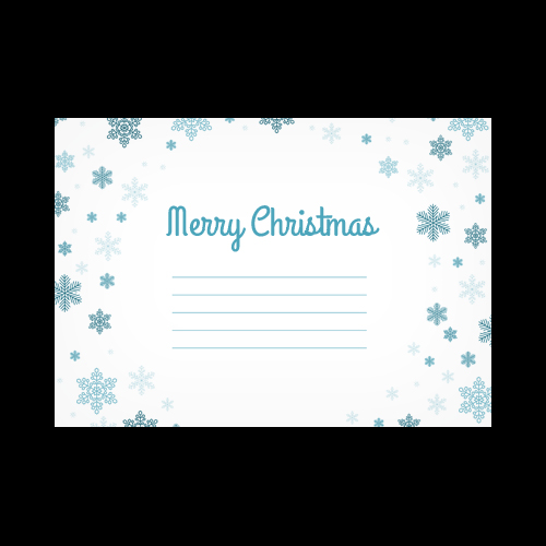 MERRY CHRISTMAS SNOWFLAKES PRINTED ENVELOPES