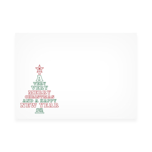 MERRY CHRISTMAS TREE PRINTED ENVELOPES