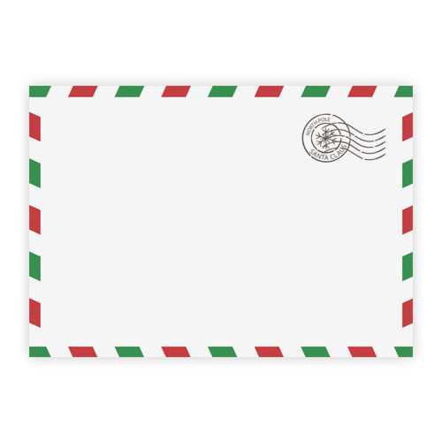 NORTH POLE PRINTED ENVELOPES