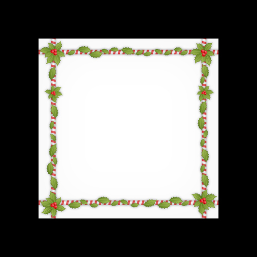 Holly Border Printed Square Envelopes