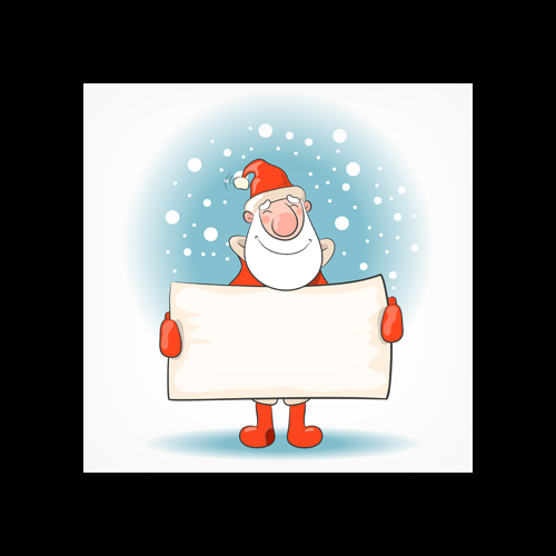 SANTA SIGN PRINTED SQUARE ENVELOPES