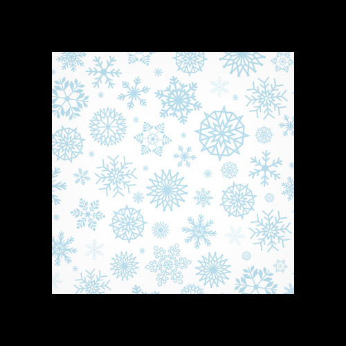 Snowflakes Pattern Printed Square Envelopes
