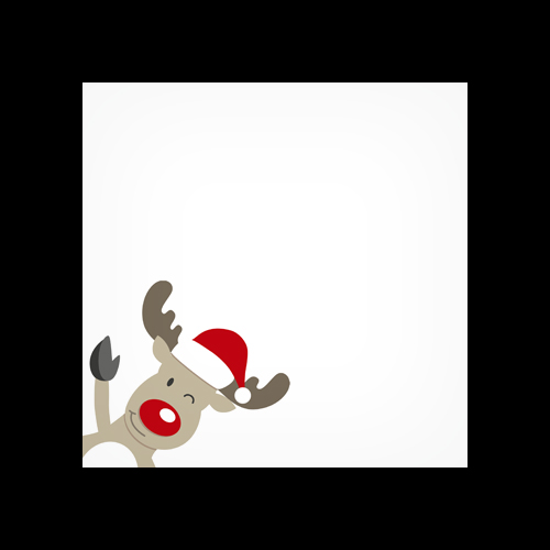 Winking Rudolph Printed Square Envelopes