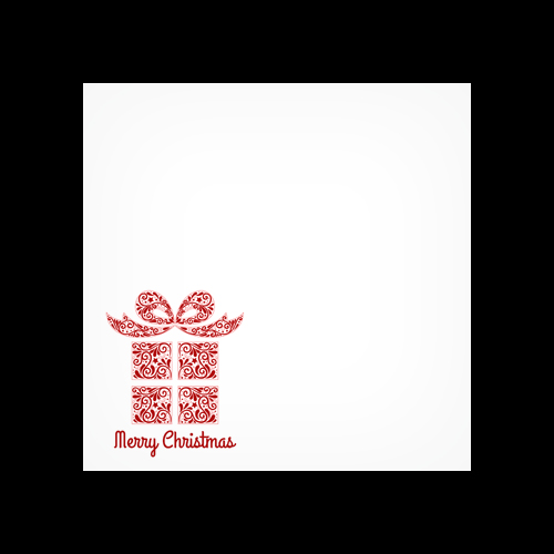 Xmas Present Red Printed Square Envelopes
