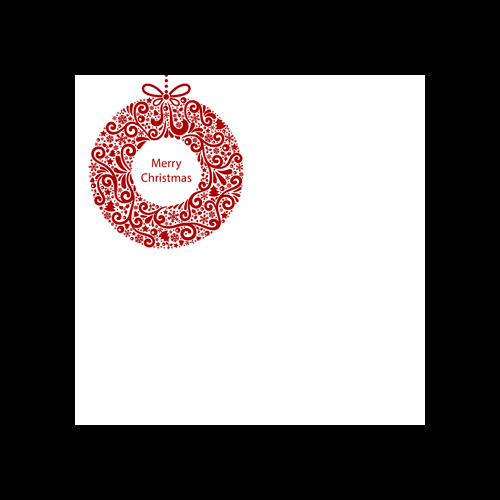 XMAS WREATH PRINTED SQUARE ENVELOPES
