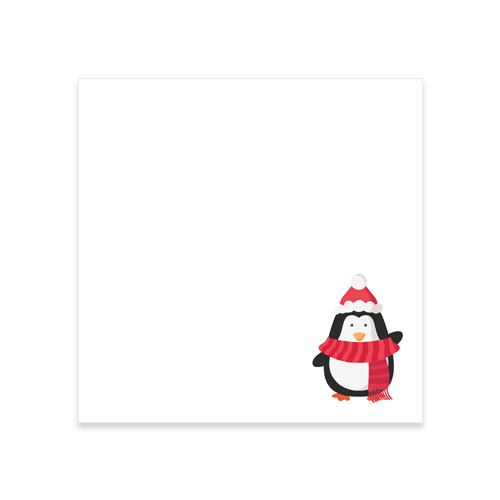 CHRISTMAS PENGUIN PRINTED SQUARE ENVELOPES