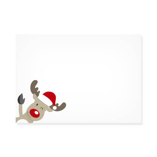 WINKING RUDOLPH PRINTED ENVELOPES
