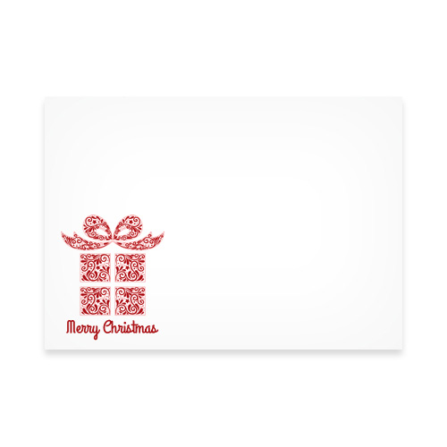 XMAS PRESENT RED PRINTED ENVELOPES