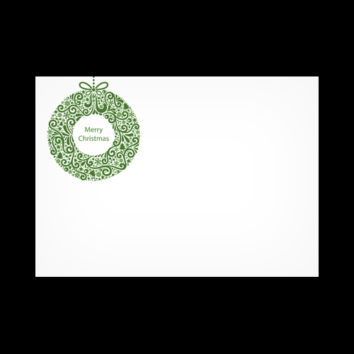 XMAS WREATH PRINTED ENVELOPES