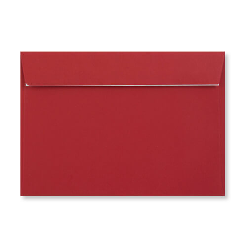 C5 Dark Red Peel & Seal Envelopes