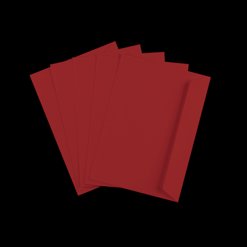 C6 Dark Red Peel & Seal Envelopes
